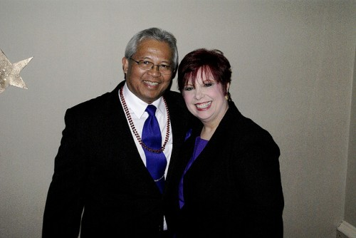 Bob Reyes & me at the last winter formal we attended.