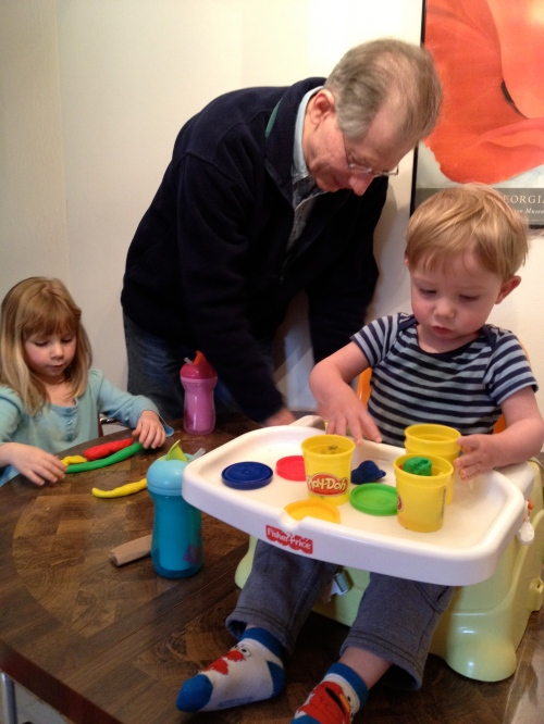 Play-doh time with Grandpa