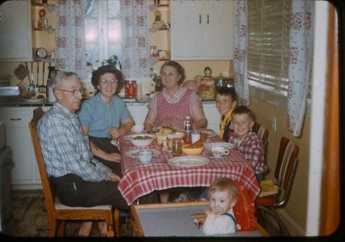1950s dinner at grandmas