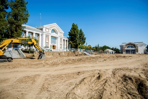 The 70s buildings are gone, leaving the 1923 Admin Building. FUSD photo