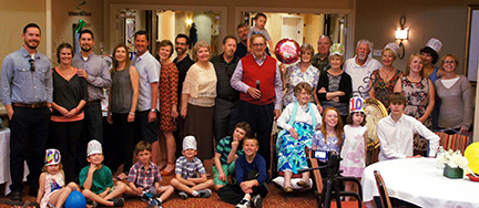 Margaret's three children, 8 grandchildren, and numerous great grandchildren